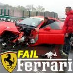 Ferrari 458 Spider tenta Ultrapassagem e Espeta-se!