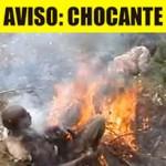 CHOCANTE: Pessoas espancadas e queimadas vivas