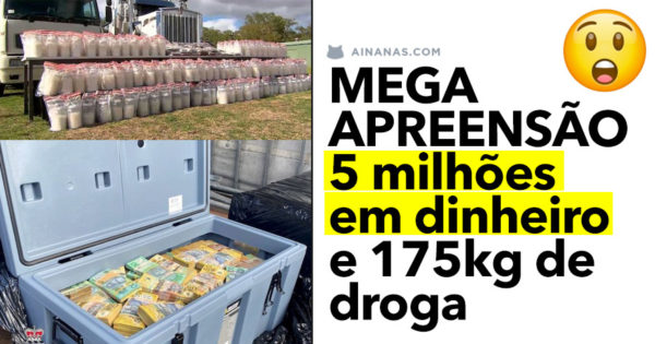 MEGA APREENSÃO: 5 milhões em dinheiro e 175kg de droga