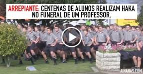 ARREPIANTE: Centenas de Alunos Realizam HAKA no Funeral de Professor