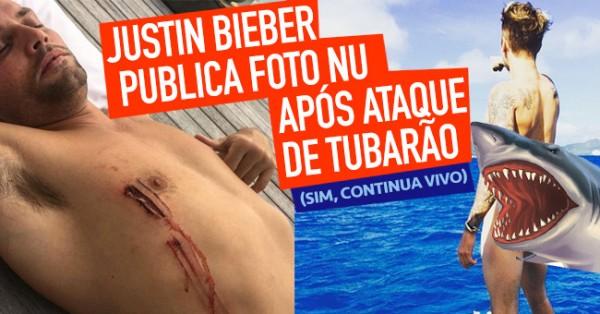 Justin Bieber Publica Foto Nu Após Ataque de Tubarão