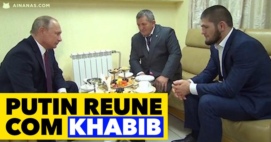 PUTIN reúne com Khabib e felicita-o pela vitória sobre McGregor