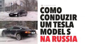 Como conduzir um TESLA MODEL S na Russia
