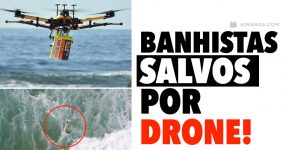Drone Entrega Boia e SALVA BANHISTAS