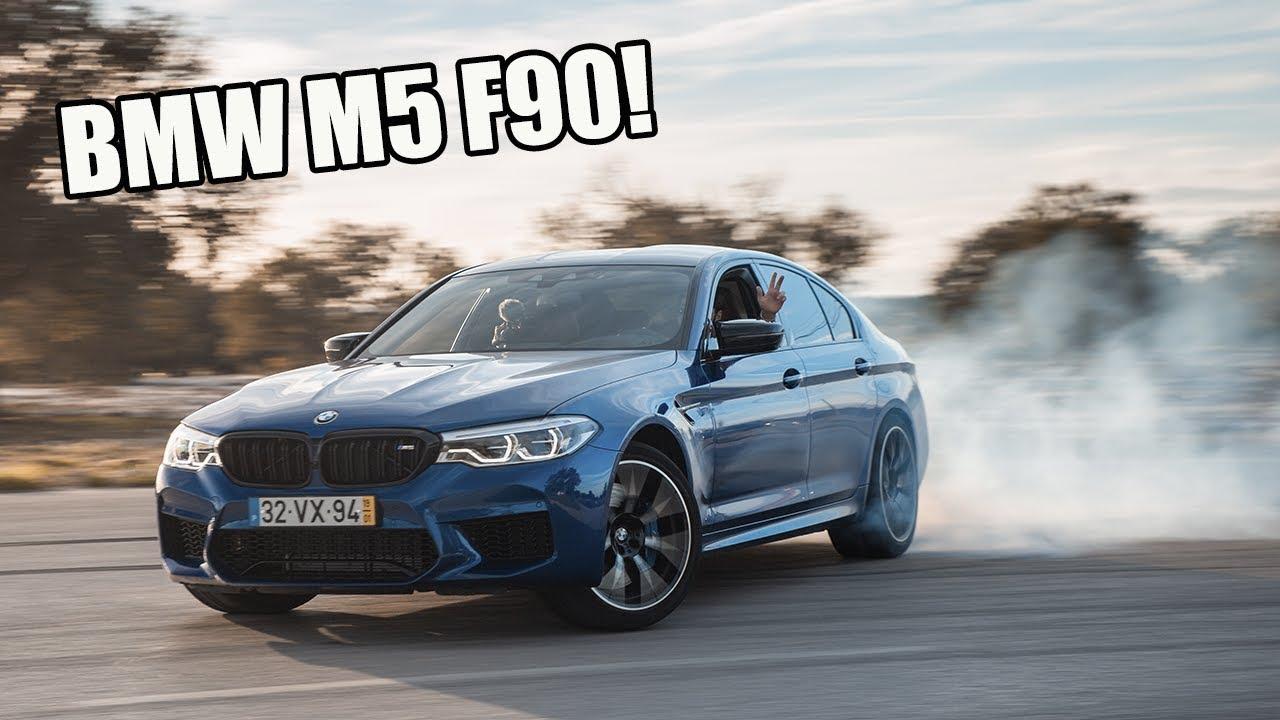 BMW M5 F90 Competition Português queima pneu à grande!