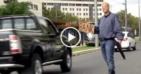 Rémi Gaillard Simula Assalto a Banco