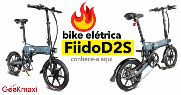 Fiido D2S: Bike Elétrica Dobrável com 6 Mudanças Shimano