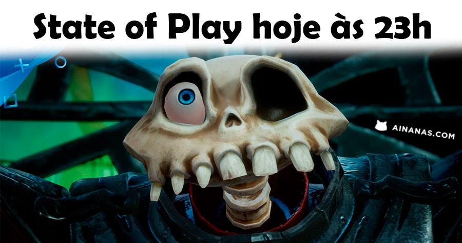 HOJE ÀS 23h não percas 10 minutos de novidades PlayStation em Direto no State of Play