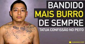 Criminoso BURRO tatua confissão do crime no peito