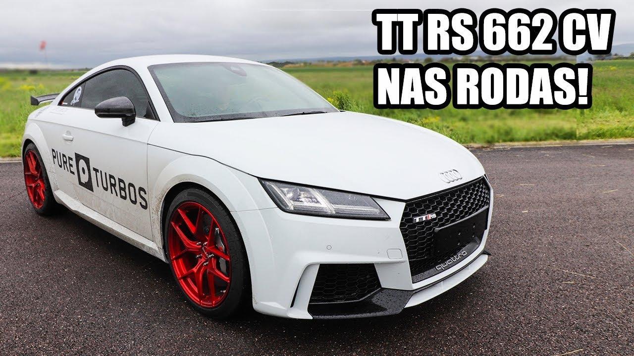 BRUTO: Audi TT RS com 662cv medidos nas rodas