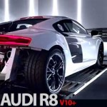 AUDI R8 faz música com o seu poderoso Motor V10+