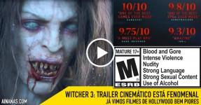 THE WITCHER 3: Trailer Cinemático Assombroso!
